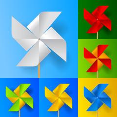 Windmill propeller set