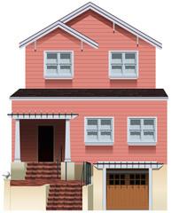 A big pink house