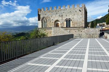 Ancient town Taormina on the Sicilian coast