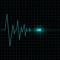 Heart cardiogram vector illustration