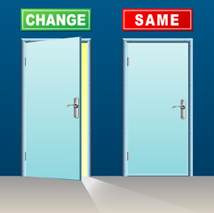 change and same doors