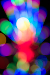 Colorful bokeh background,  fluorescent lights