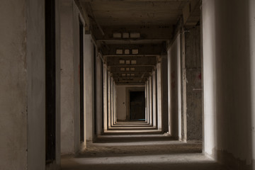pathway in abandoned building