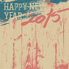 2015 New Year background retro styled