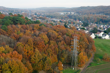 L'automne et Saint cheron vue du ciel en Essonne