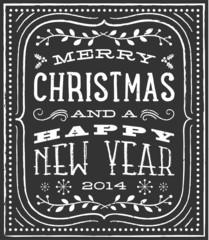 Chalk Christmas Card