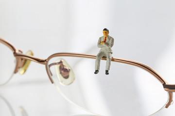 メガネとビジネスマン