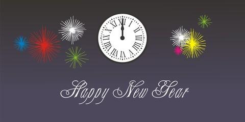 Happy New Year Reloj