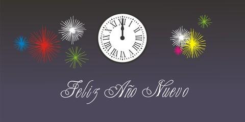 Feliz Año Nuevo Reloj