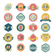 shopping badge banner flat design background set, eps10