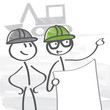 Baustelle, Architekt, Planung