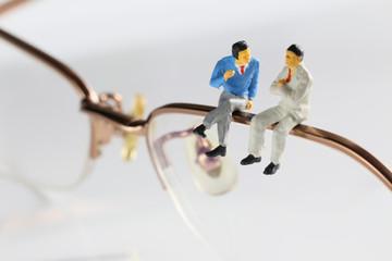 ビジネスマンと眼鏡