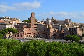 Rom, klarer Himmel, Herbst