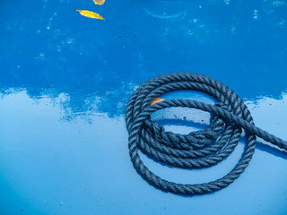 wet coil of rope