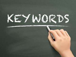 keywords word written by hand