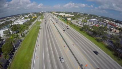 Highway aerial video