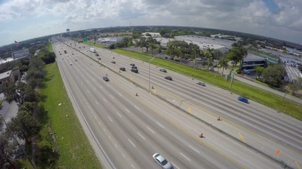 I95 Hollywood FL USA aerial video