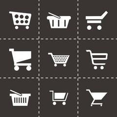 Vector shopping cart icons set