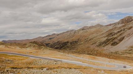Davos, Passstrasse, Flüela, Bergstrasse, Alpen, Herbst, Schweiz
