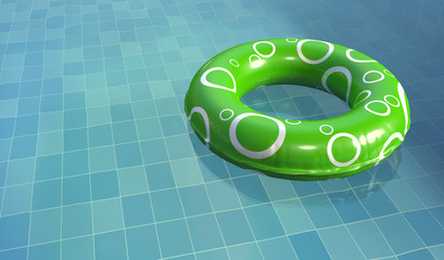 Swim Ring in Pool