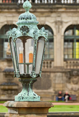 Lantern in Zwinger Palace .