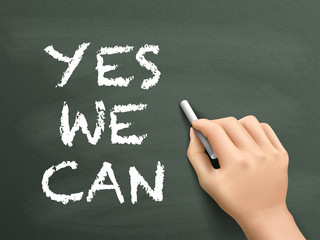 yes we can words written by hand