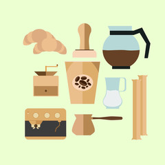Vintage Coffee Cup  icons for your design