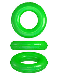 Green Swim Rings on White. Clipping path