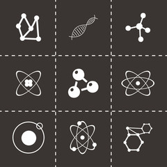 Vector atom icon set