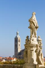 Baroque statue in Kutna Hora