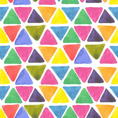 watercolor seamless pattern with triangle