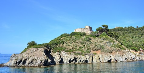 ILE DE PORT-CROS : Fort et anse de Port-man