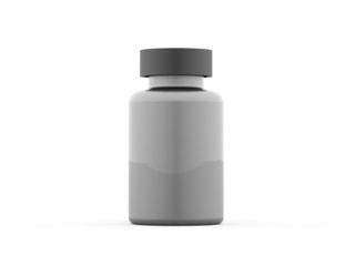 Chemical pills bottle rendered isolated