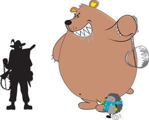 Anti-hunting,animal friendly illustration,isolated on white