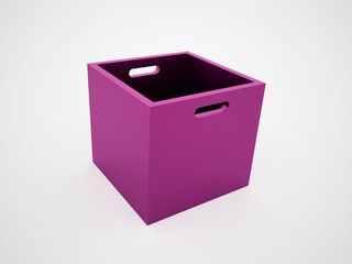 Pink open box rendered