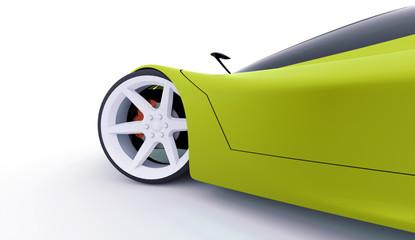 Green sport car concept