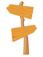 Wooden Arrow sign vector