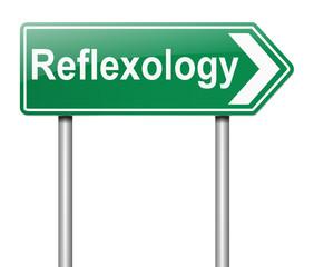 Reflexology concept.