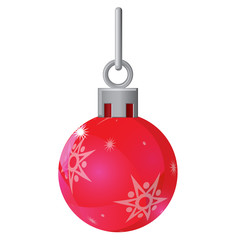 Red Christmas ball with star design