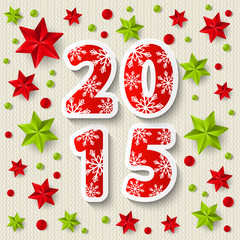New Year 2015 concept with starry decorations