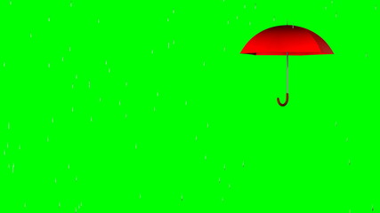 4k, Your text under an umbrella (green screen, alpha)