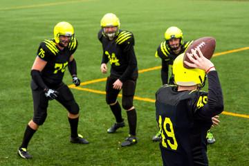Men playing american football