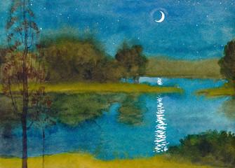 Quiet moonlit night