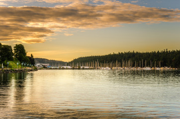 Nanaimo Harbour at Sunset