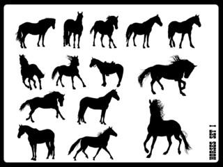Horse silhouettes set 1