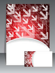 Red brochure and business card