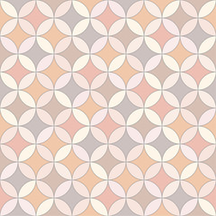 Seamless vector color oriental mosaic pattern
