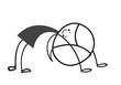 doodle little girl gymnastics