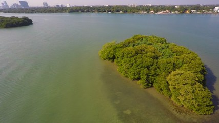 Secluded Islands Miami Beach aerial video