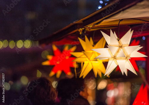 canvas print picture Christmas Market Stars
